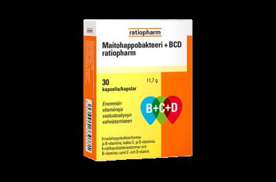 Maitohappobakteeri+BCD_ratiopharm