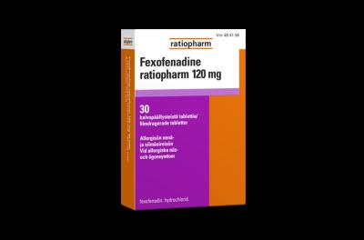 Fexofenadine ratiopharm 120 mg